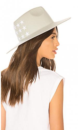 Шляпа carlie Don Paris. Цвет: серовато-зеленый
