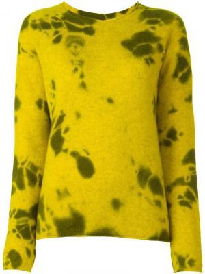 Джемпер с эффектом пятен Suzusan. Цвет: жёлтый и оранжевый