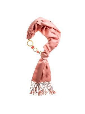 Платок Le Coffre. Цвет: золотистый, розовый
