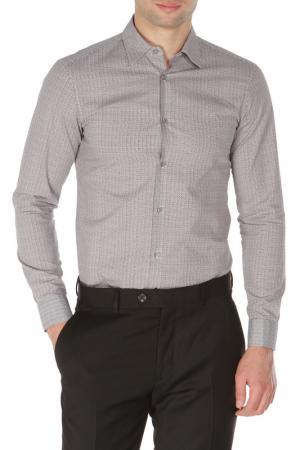 Классическая приталенная рубашка Z Zegna. Цвет: серый