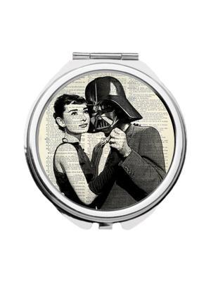 Зеркальце карманное Одри и Дарт Chocopony. Цвет: черный, серый, темно-серый