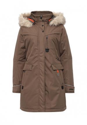 Куртка утепленная Torstai. Цвет: коричневый