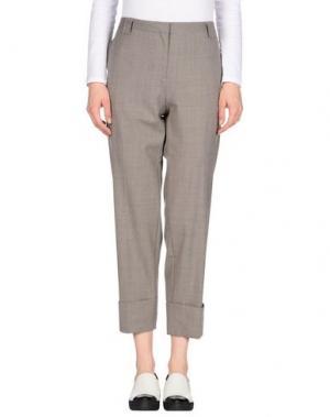 Повседневные брюки ANTONELLI. Цвет: голубиный серый