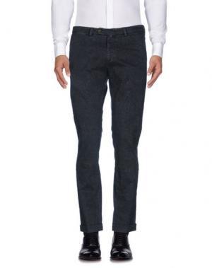 Повседневные брюки B SETTECENTO. Цвет: стальной серый