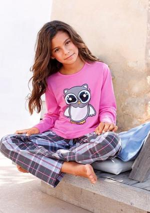 Пижама, Petite Fleur KIDS. Цвет: розовый в клетку