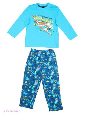 Пижама Planes. Цвет: морская волна
