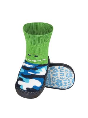 Тапочки-носочки детские SOXO. Цвет: черный, синий, зеленый, голубой, белый