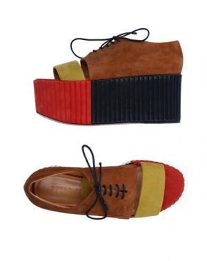Обувь на шнурках PETAR PETROV. Цвет: верблюжий