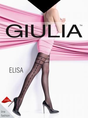 Фантазийные колготки ELISA 06, 2 пары (40 ден) Giulia. Цвет: черный