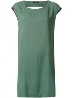 Платье Military Roberto Collina. Цвет: зелёный