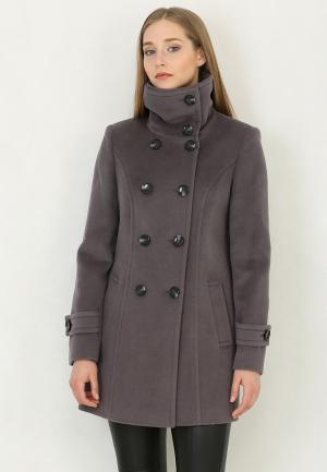 Пальто Trifo. Цвет: серый