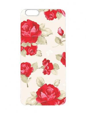 Чехол для iPhone 6 Красные розы Chocopony. Цвет: белый, красный