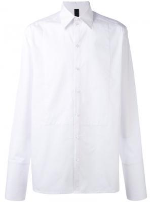 Поплиновая рубашка Sublime Odeur. Цвет: белый