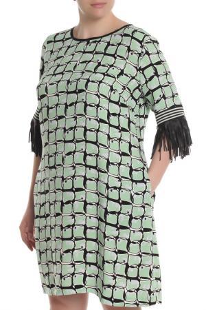 Платье Beatrice. B. Цвет: салатовые круги