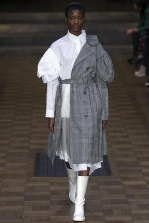 Хлопковая блузка Simone Rocha. Цвет: белый