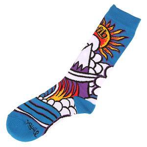 Носки высокие  Wave Sock Blue Lib Tech. Цвет: синий,мультиколор