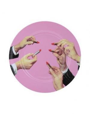 Декоративная тарелка SELETTI. Цвет: розовый