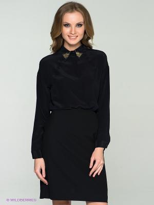 Блузка Anna Rachele Jeans. Цвет: черный