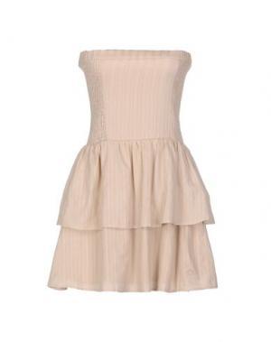 Короткое платье DUCK FARM. Цвет: бежевый