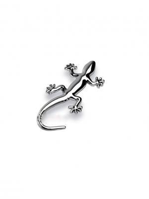 Наклейка 3D Ящерица блестящая серебряная WIIIX. Цвет: серебристый, черный