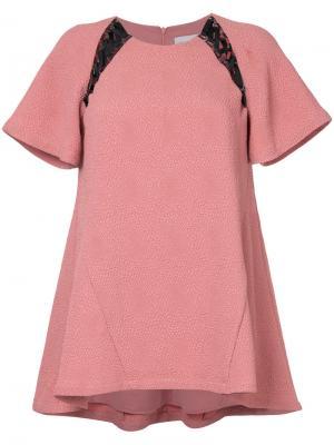 Топ Castella с кружевной вставкой Rebecca Vallance. Цвет: розовый и фиолетовый