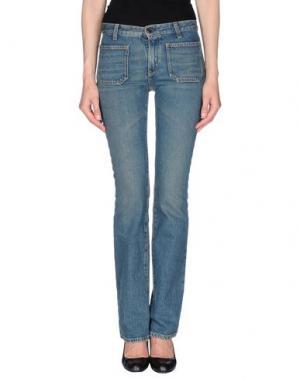 Джинсовые брюки SAINT LAURENT. Цвет: синий