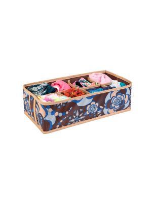 Чехол для мелочей 8 ячеек 35х15х10см Прованс 1327 COFRET. Цвет: бежевый, коричневый, голубой
