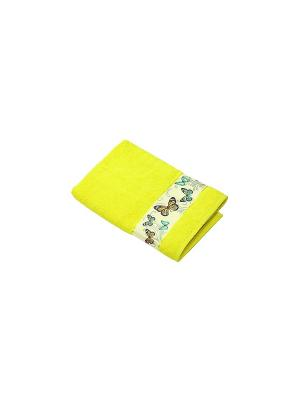 Полотенце Бабочки La Pastel. Цвет: желтый
