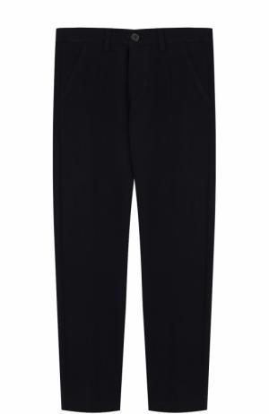 Однотонные брюки прямого кроя Il Gufo. Цвет: синий