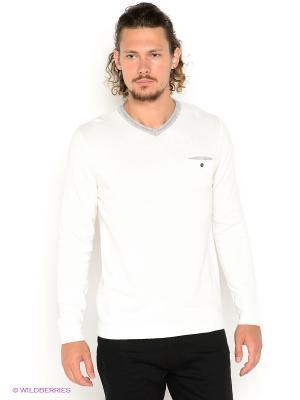 Пуловер CONVER. Цвет: белый, серый