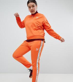Puma Оранжевые спортивные штаны с полосками по бокам эксклюзивно для A. Цвет: оранжевый