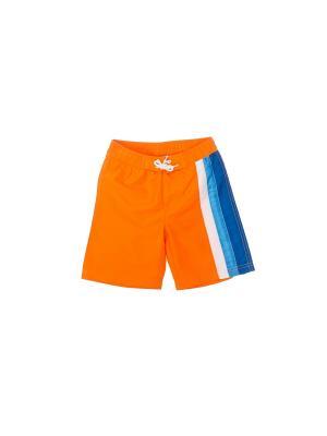 Шорты PlayToday. Цвет: оранжевый, белый, синий, голубой