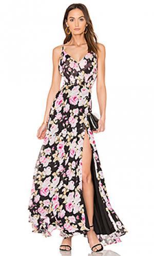 Макси платье kat Yumi Kim. Цвет: черный