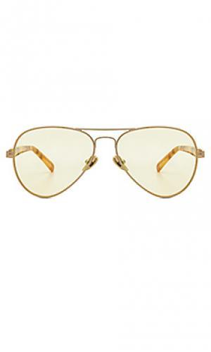Солнцезащитные очки concorde 20 WESTWARD LEANING. Цвет: металлический золотой
