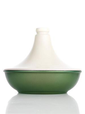 Таджин  с керамической крышкой Risoli. Цвет: зеленый