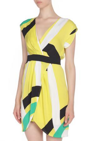 Полуприлегающее асимметричное платье Catherine Malandrino. Цвет: цветной