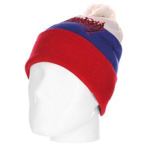 Шапка  В-Flag-Multy White/Blue/Red Ziq And Yoni. Цвет: белый,синий,красный