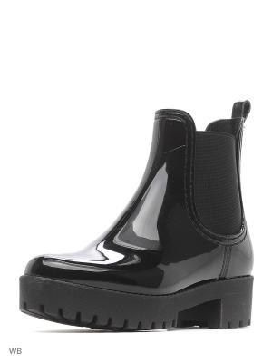 Резиновые сапоги Mon Ami. Цвет: черный