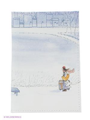Обложка для паспорта Mitya Veselkov. Цвет: белый, сиреневый