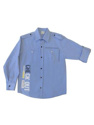 Рубашка MARIONS. Цвет: голубой