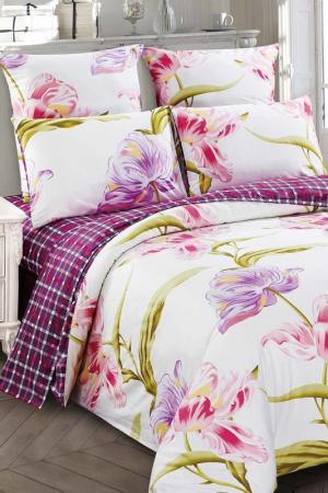 Постельное белье 2,0 сп, 70х70 Jardin. Цвет: розовый, салатовый, фиолетовый
