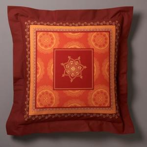 Наволочка Агадир La Redoute Interieurs. Цвет: кирпично-оранжевый/охра
