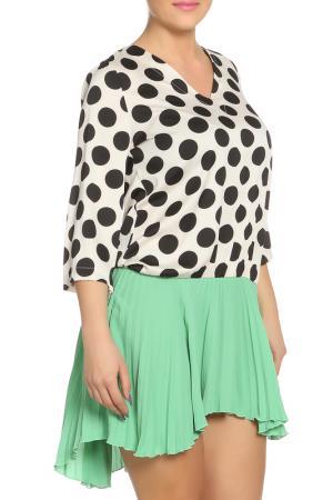 Платье Denny Rose. Цвет: бежевый, зеленый