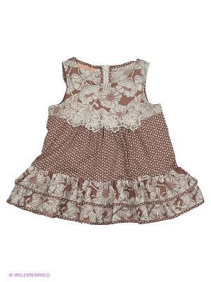 Блузка CHOUPETTE. Цвет: коричневый