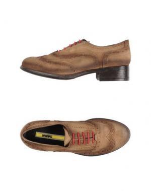 Обувь на шнурках MANAS. Цвет: коричневый