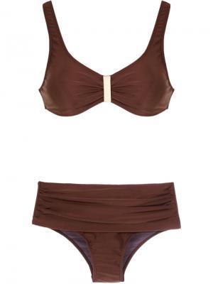 Bikini set Lygia & Nanny. Цвет: коричневый