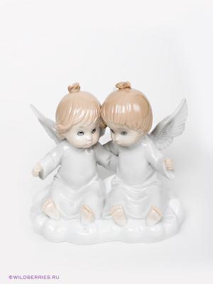 Фигурка Парочка ангелов Pavone. Цвет: молочный, бежевый