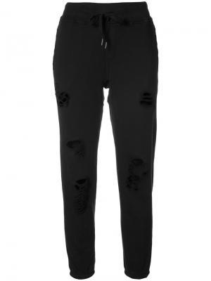 Distressed track pants NSF. Цвет: чёрный
