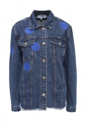 Куртка джинсовая LOST INK. Цвет: синий
