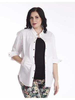 Блузка AVERI. Цвет: белый